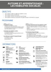 Formation habiletés sociales - octobre 2021
